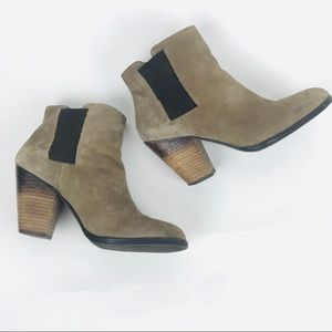 Vince Camuto Suede Ankle Booties Size 7.5